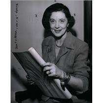 1954 Press Photo Mary Morgan CKLW Radio Sweetest Day