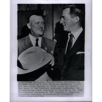 1955 Press Photo Theodore R. McKeldin Allan Shrivers