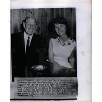 1964 Press Photo carolyn morin leo durocher coach LA