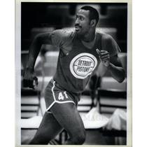 1985 Press Photo Terry Tyler, Detroit Pistons, NBA