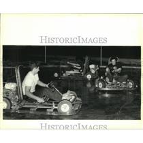 1988 Press Photo GoCarts Interstate 10 Service Road Metairie - nob21271