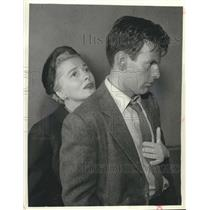 """1962 Press Photo Joan Fontaine and Maximilian Schell co-star in """"Perilous""""."""