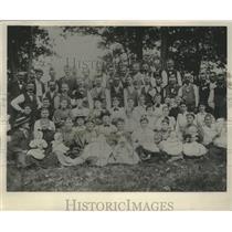 1895 Press Photo Fourth of July picnic at Gray Stone Park, Milwaukee, Wisconsin