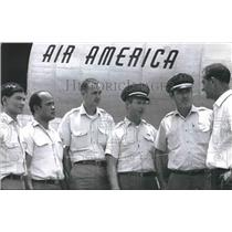 1967 Press Photo Air American Crewmen B. M. Brigida, Others ready to Fly