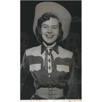 1951 Press Photo Alice Carr, Queen of Craig Field Rodeo, Alabama - abno00807