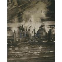 1959 Press Photo U.S. Pipe Furnaces Making Pig Iron, Birmingham, Alabama