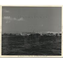 1951 Press Photo The rebuilt shore of Pearl Harbor, Hawaii ten years on