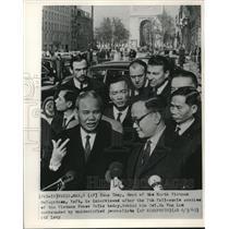 1969 Press Photo North Vietnam delegate Xuan Thuy at Paris peace talks, France