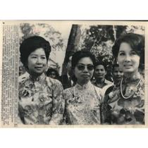 1967 Press Photo Mrs. Nguyen Van Thieu wife of Vietnamese president & others