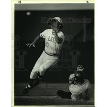 1985 Press Photo Austin Reagan and Lee play high school baseball - sas10284