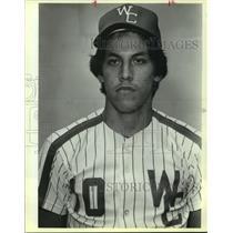1985 Press Photo South San West Campus High baseball player David Gonzalez