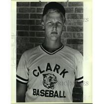 1985 Press Photo Clark High baseball player Bubba Walters - sas10305