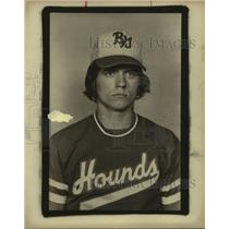 1977 Press Photo A high school baseball player - sas10331