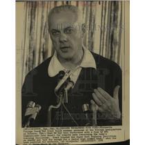 1974 Press Photo Minnesota Vikings football coach Bud Grant - sas10400