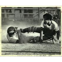 1984 Press Photo Fox Tech and Edison play high school baseball - sas10747