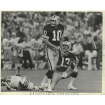 1983 Press Photo Jan Stenerud (10) kicker for Green Bay Packers. - mjx47244
