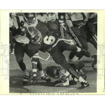 1989 Press Photo Football - Loffette Hampton of Clark Runs Against Clark