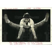 1988 Press Photo Cheerleader Jack Greco prepares as Cheerleader camp instructor