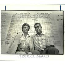 1988 Press Photo Golf - Associated Press golf writer Bob Green and wife Iva