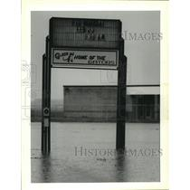 """1991 Press Photo Sign of """"The Glade School"""", the home of the gators - nob27264"""