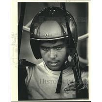 1981 Press Photo Charles Hallal, 15-Year-Old Hang Glider, Chalmette - nob27894