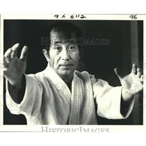 1981 Press Photo Nobuo Hayashi teaches judo in New Orleans - nob28141