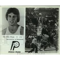 1977 Press Photo Mike Flynn, Indiana Pacers Basketball Player at Game