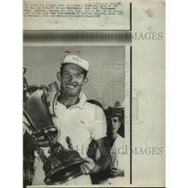 1956 Press Photo Golfer Don January at Dallas Centennial Open Tournament