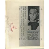 1959 Press Photo Royd Doyler Green Bay Packers end named Rookie of Year