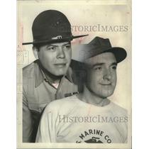 """1965 Press Photo Actors Frank Sutton and Jim Nabors star in """"Gomer Pyle - USMC"""""""