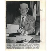 1961 Press Photo Homer Garrison Jr director of Texas Dept of Public Safety