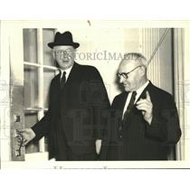 1941 Press Photo Prime Minister Peter Fraser of New Zealand & Frank Langstone
