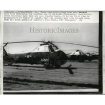 1958 Press Photo American Army helicopters maybe used by President Eisenhower
