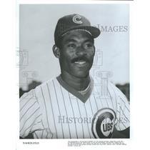 1982 Press Photo Chicago Cubs Dejesus Roster Shot - RRQ40135