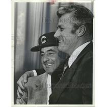 1983 Press Photo Cubs GM Dallas Green Lee Elia manager - RRQ49113