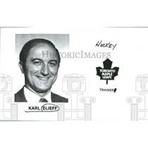 1972 Press Photo Toronto Maple Leafs Karl Elieff - RRQ50545