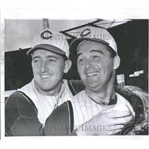 1954 Press Photo Jim Maloney O'Toole Cincinnati Reds - RRQ52491