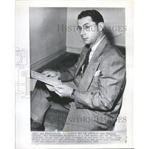 1948 Press Photo Dom DiMaggio Boston Red Sox Baseball - RRQ53583