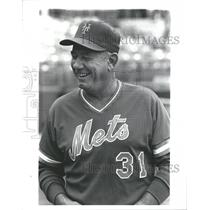 1982 Press Photo George Bamberger New York Mets Manager - RRQ60907