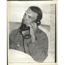 1948 Press Photo Eddie Stanky gets news of trade to the Boston Braves