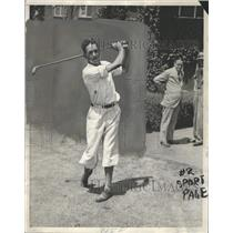 1930 Press Photo Johnny Lehman Professional Golfer - RRQ30785
