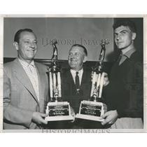 1953 Press Photo Darrell Johnson Baltimore Orioles Catcher - RRQ68281