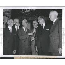 1954 Press Photo Arnold Johnson, William Harridgem Nathaniel Leverone, Pat Lanna