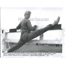 1956 Press Photo Jackie MacDonald Canadian Team Olympic - RRQ41505