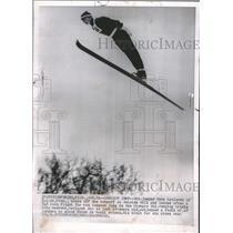 1960 Press Photo Gene kotlarek Duluth Suicide Hill - RRQ10011