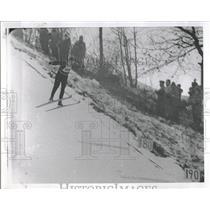 1963 Press Photo Gene Kotlarek Norge Ski Club 206 Feet - RRQ32605