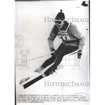 1964 Press Photo Marielle Goitschel of France in Women's Giant Slalom Ski Race