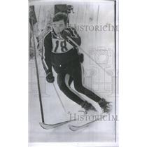 1965 Press Photo Jim Heuga Skiing Glans Slalom - RRQ67027