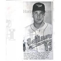 1967 Press Photo Pitcher Steve Barber Baltimore Orioles - RRQ53549