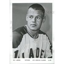 1969 Press Photo Ray Larose Los Angeles Blades Defense - RRQ55249